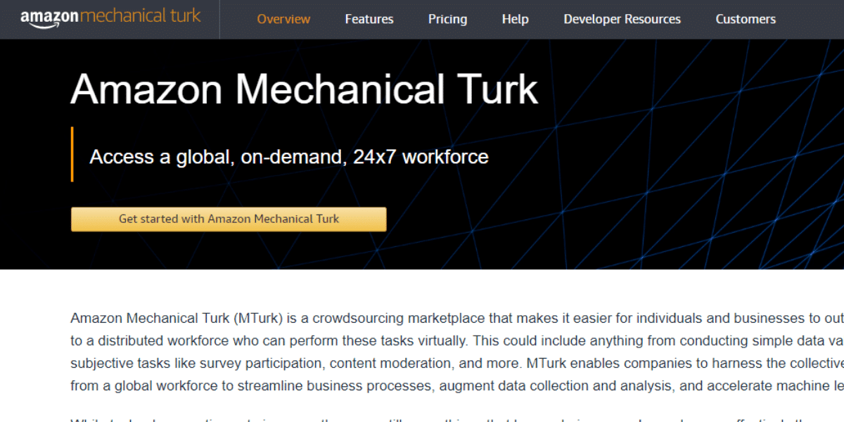 Online jobs for college students Amazon Mechanical Turk