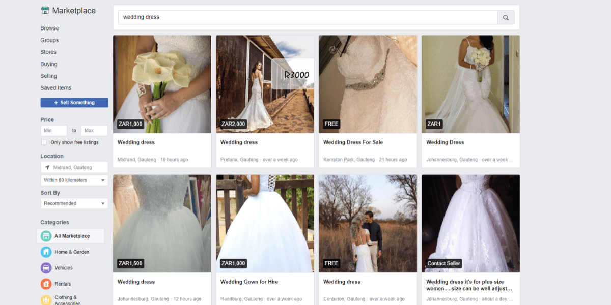 The best sites to sell your wedding dress online Facebook Marketplace