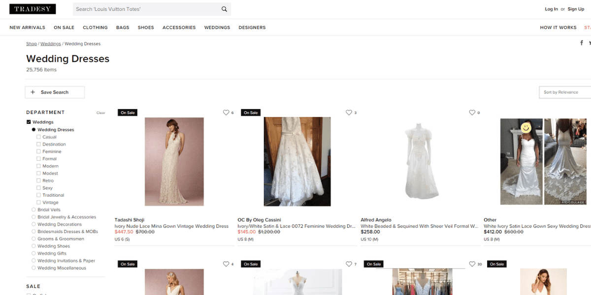 The best sites to sell your wedding dress online Tradesy