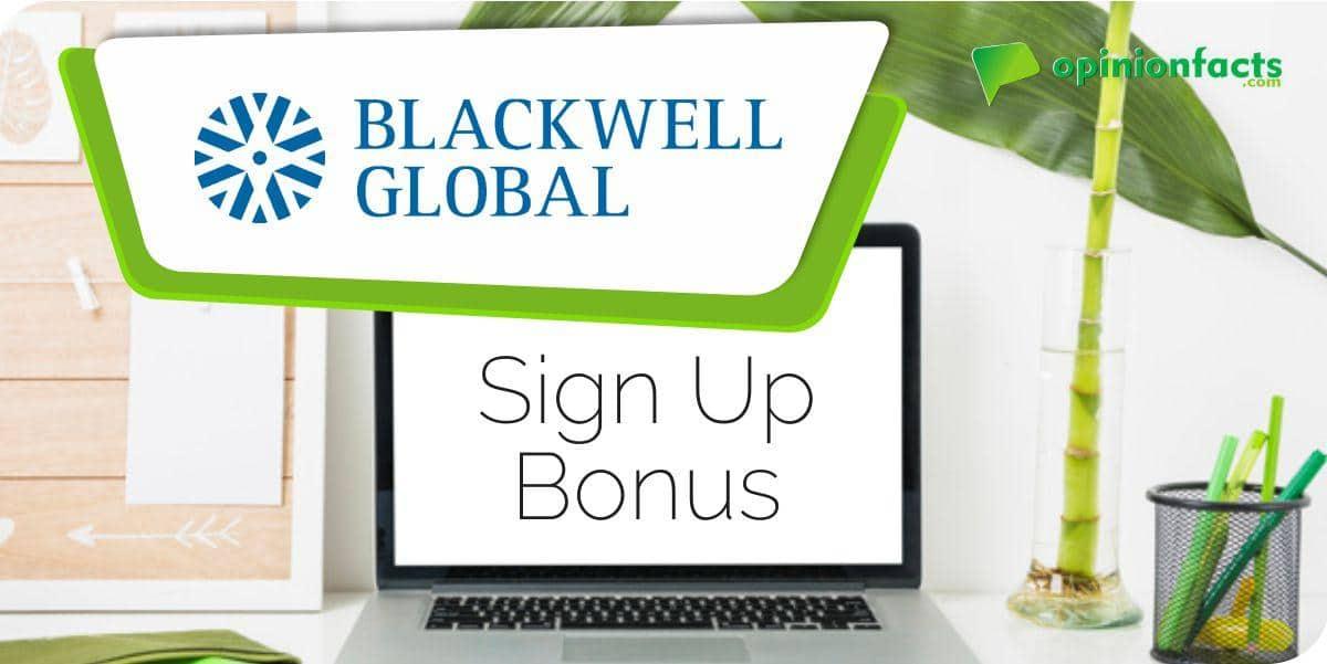 Blackwell Global - Sign Up Bonus