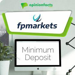 FP Markets - Minimum Deposit