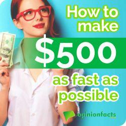How to make $500 as fast as possible